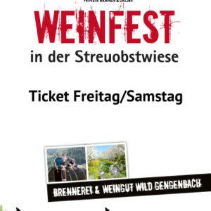 Tickets Weinfest Freitag und Samstag