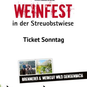Tickets Weinfest Wild Sonntag
