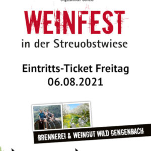 Weinfest WILD 2021 Freitag